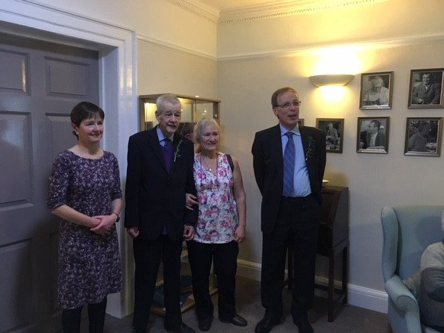 Elizabeth Cheshire - Sue Ryder's daughter, Jeromy Cheshire - Sue Ryder's son, Eileen Wise Trustee of LRWMT and Michael Cutting Trustee and Treasurer of LRWMT