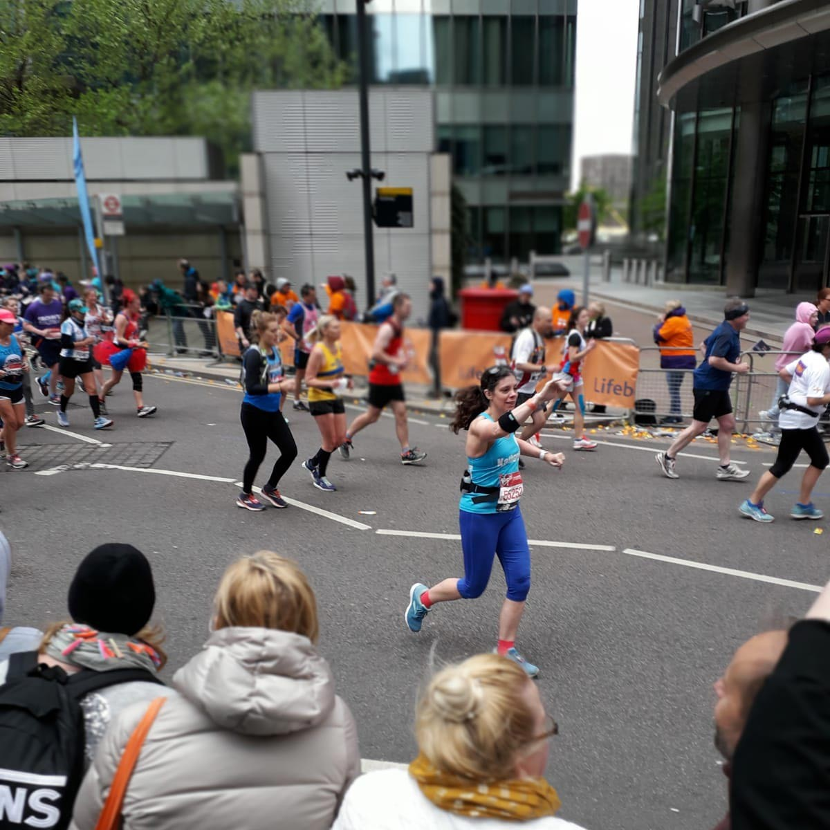 Katherine Selby running the London Marathon 2019