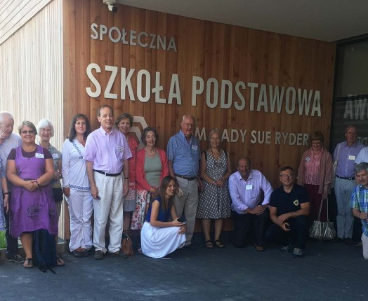 A group visit of the LRWMT trustees to the Wola Batorska School hosted by headmaster Tomasz Donatowicz and his assistant headteacher Gosia