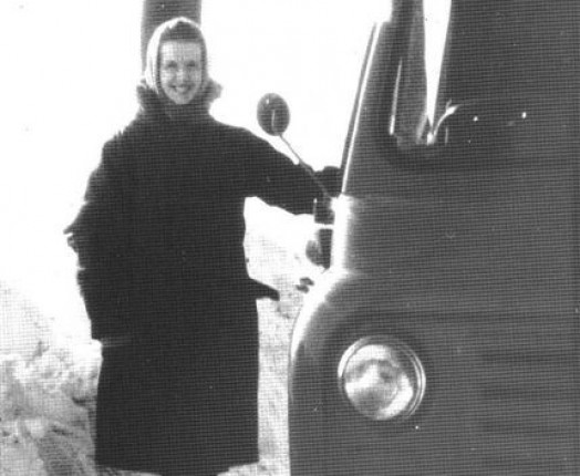 Sue often drove lorries of food and clothing to central Europe herself